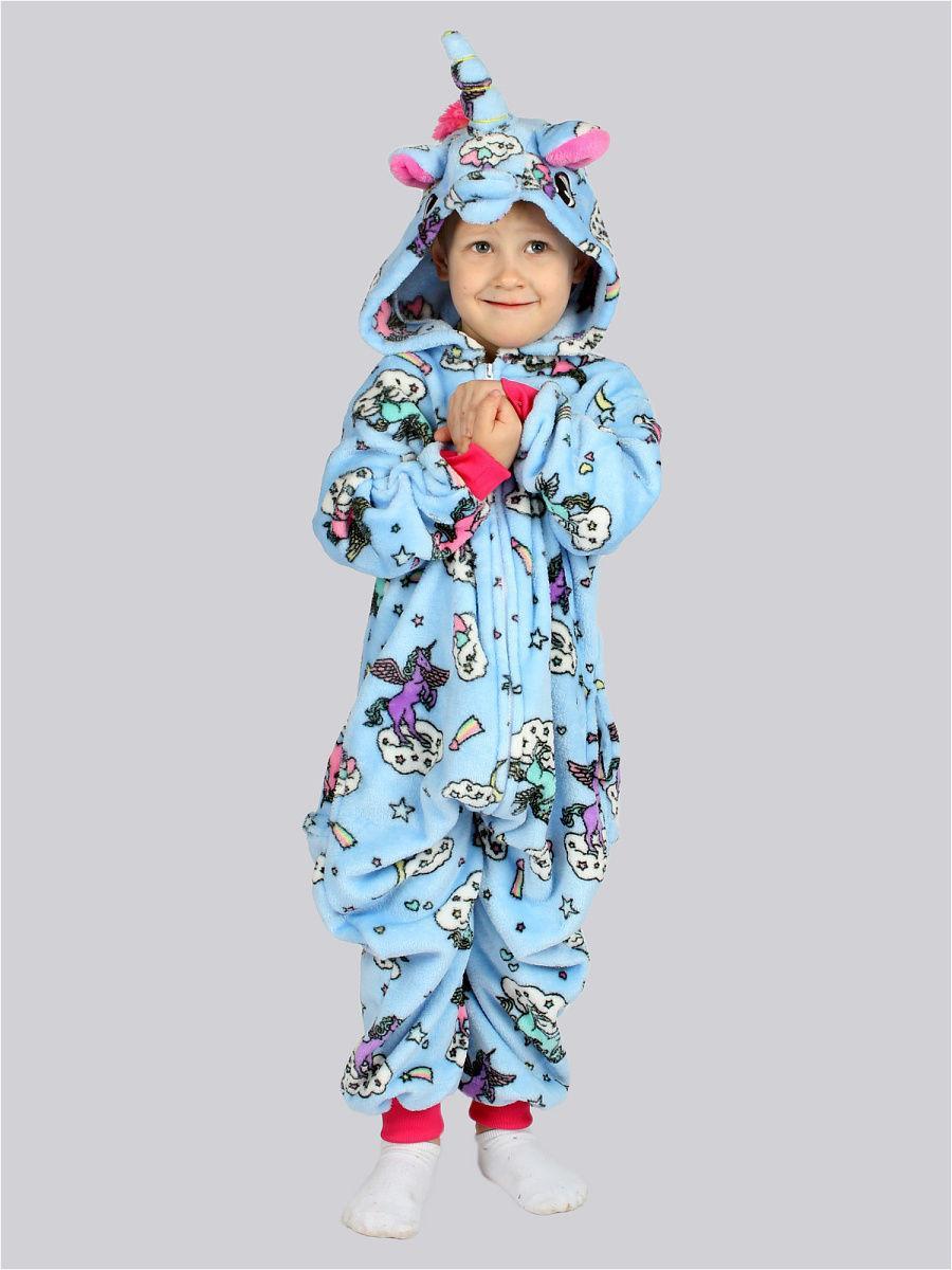 Кигуруми Единорог облака L.A.G., цвет голубой, размер 130