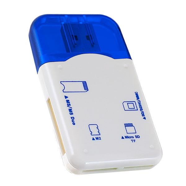 Картридер Perfeo SD/MMC+Micro SD+MS+M2, VI-R010 синий hosafe sv03 720p wireless pan tilt ip camera w 4pcs array ir leds two way speak motion detection alert micro sd card record
