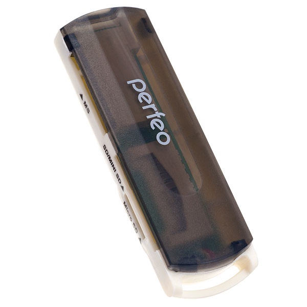 Картридер Perfeo SD/MMC+Micro SD+MS+M2, VI-R013 черный tf sd micro sd card plastic box translucent white 5 pcs