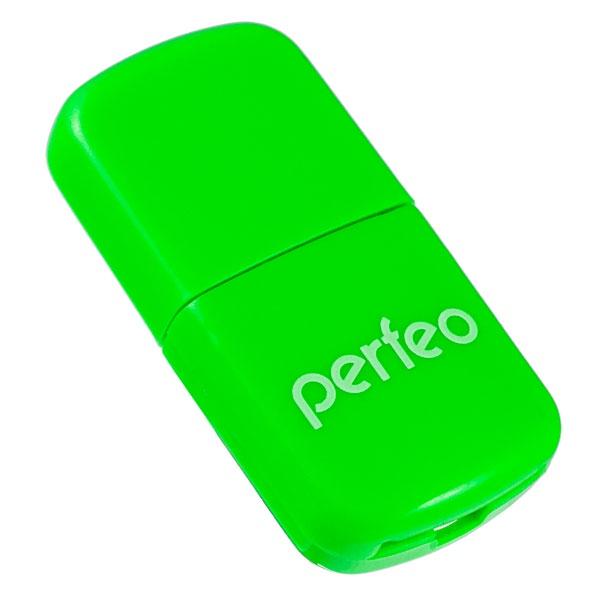 Картридер Perfeo Micro SD, VI-R009 зеленый micro sd не читается