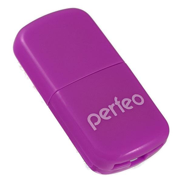 Картридер Perfeo Micro SD, VI-R009 фиолетовый hosafe sv03 720p wireless pan tilt ip camera w 4pcs array ir leds two way speak motion detection alert micro sd card record