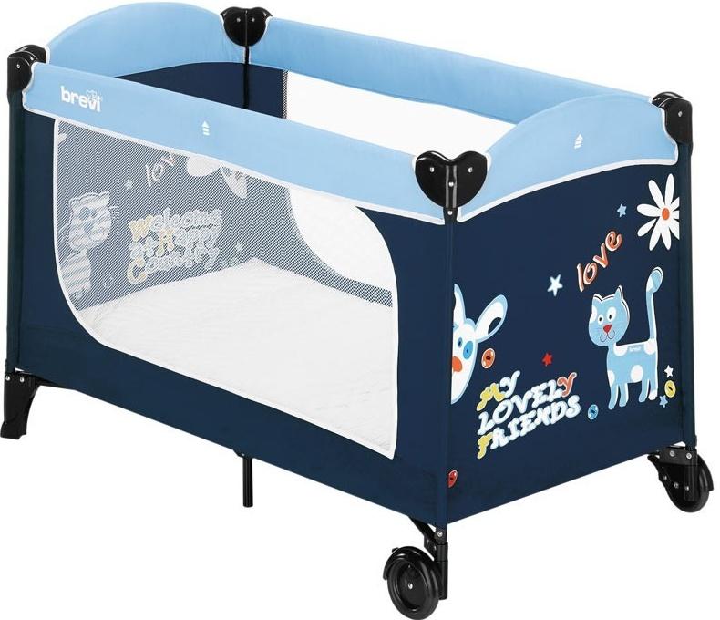 цена на Манеж-кровать Brevi DOLCE NANNA PLUS (348 BLUE)