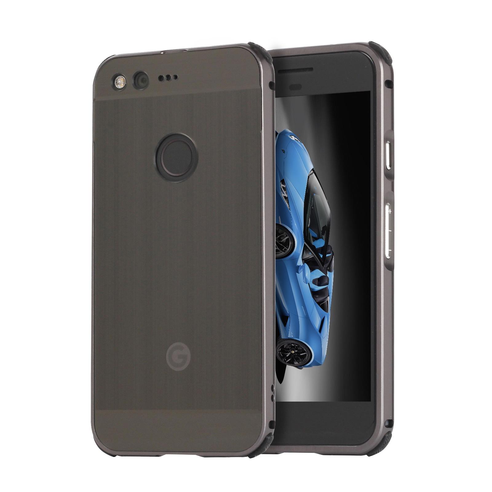 Чехол-бампер MyPads для Google Pixel XL c алюминиевым металлическим бампером и поликарбонатной накладкой черный планшет google pixel c
