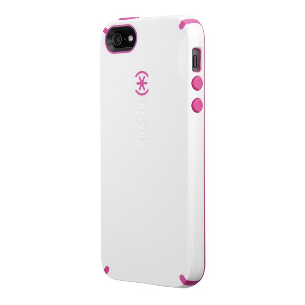 Чехол - накладка iPhone 4/4S Speck Candy Shell, белый с розовым цена и фото
