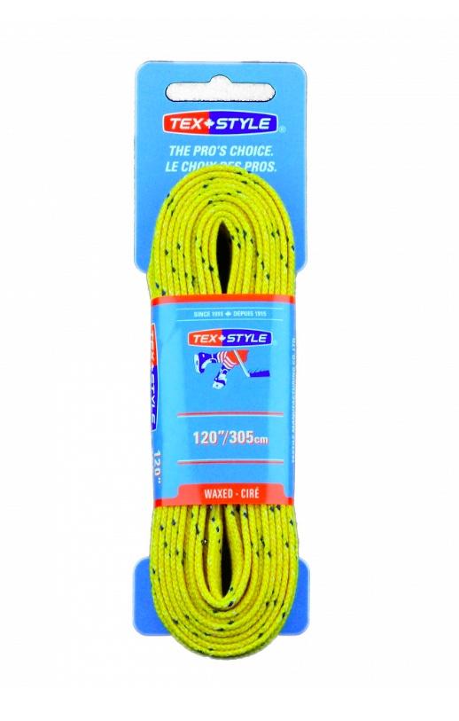 "Шнурки с пропиткой Texstyle Yellow Blue Line Waxed PT 120"" (305 см.), Желтый"