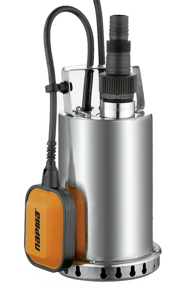Насос Парма НД- 750/ 5Н погр.дренажн. 750 Вт, 8,5м, 185л/мин ПАРМА насос из нержавеющей стали