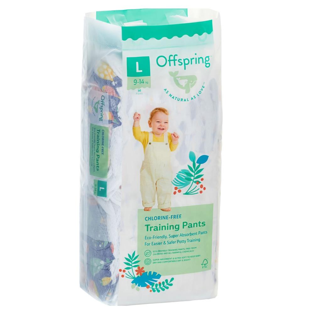 Offspring трусики-подгузники, L 9-14 кг. 36 шт. расцветка Рыбки