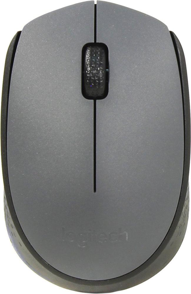 Мышь Logitech M170, Grey беспроводная манипулятор logitech
