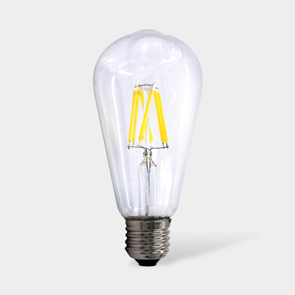 Лампочка Sweko 17LED-ST64-8W-230-4000K-E27-CL-5 (упаковка 5 штук), Холодный свет 8 Вт, Светодиодная 1шт 40 вт e26 e27 st64 2300 к дерево лампа накаливания vintage эдисон лампочка 220 240v