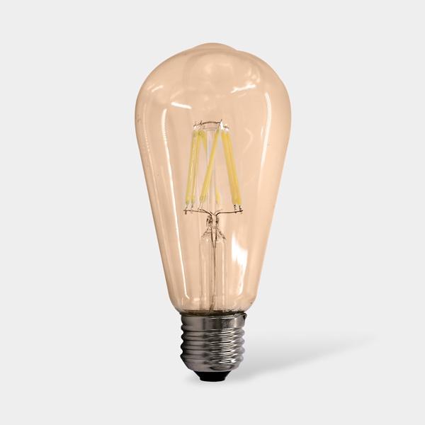 Лампочка Sweko 17LED-ST64-8W-230-3000K-E27-G-5 (упаковка 5 штук), Теплый свет 8 Вт, Светодиодная 1шт 40 вт e26 e27 st64 2300 к дерево лампа накаливания vintage эдисон лампочка 220 240v