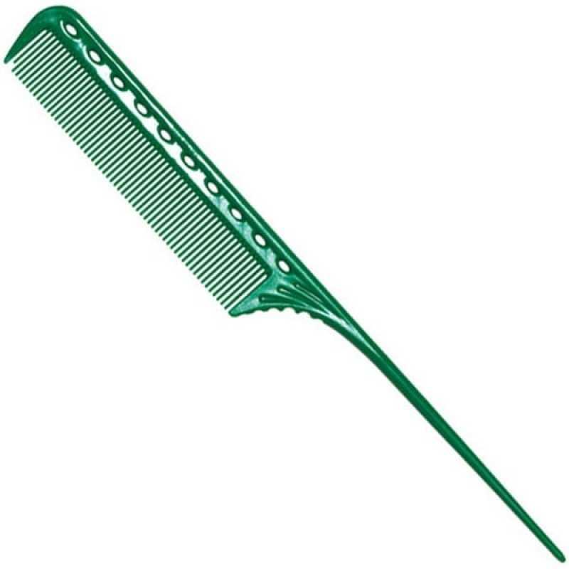 Расчёска Y.S.PARK с хвостиком зелёная YS-101 green