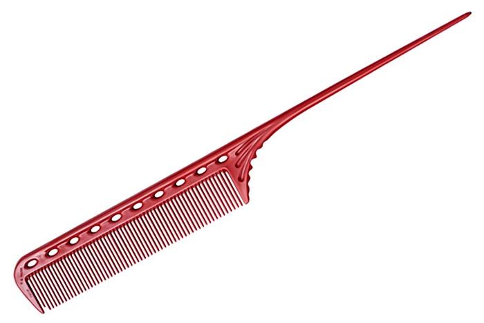 Расчёска Y.S.PARK с хвостиком красная YS-101 red y s park расчёска с хвостиком ys 101 7 цветов расчёска с хвостиком ys 101 7 цветов
