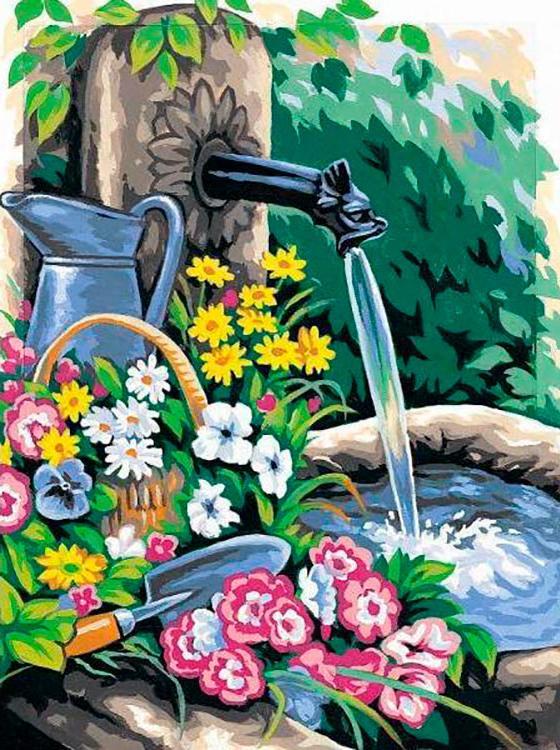 Картина по номерам Paintboy Original Свежесть летнего дня 30х40см картина дня