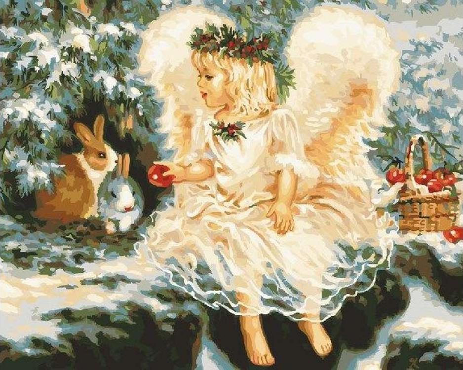 Открытку английском, открытки с рождественские ангелы