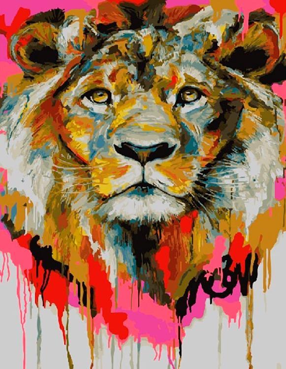Картина по номерам Paintboy Original Акварельный лев 40х50см