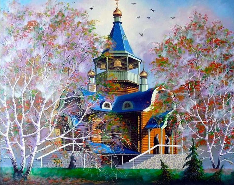Красивые открытки с храмами, открытку день святого