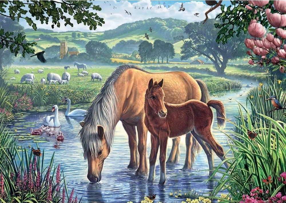 Картинки с пейзажем животных