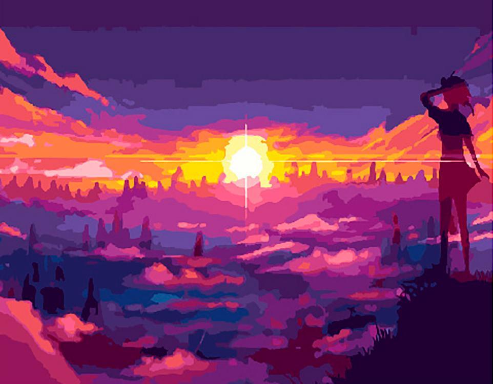 Картина по номерам Paintboy Original Встреча нового дня 40х50см картина дня