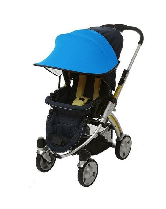 Фото - Козырёк от солнца Manito, для коляски и автокресла, цвет ярко-голубой козырёк ecco