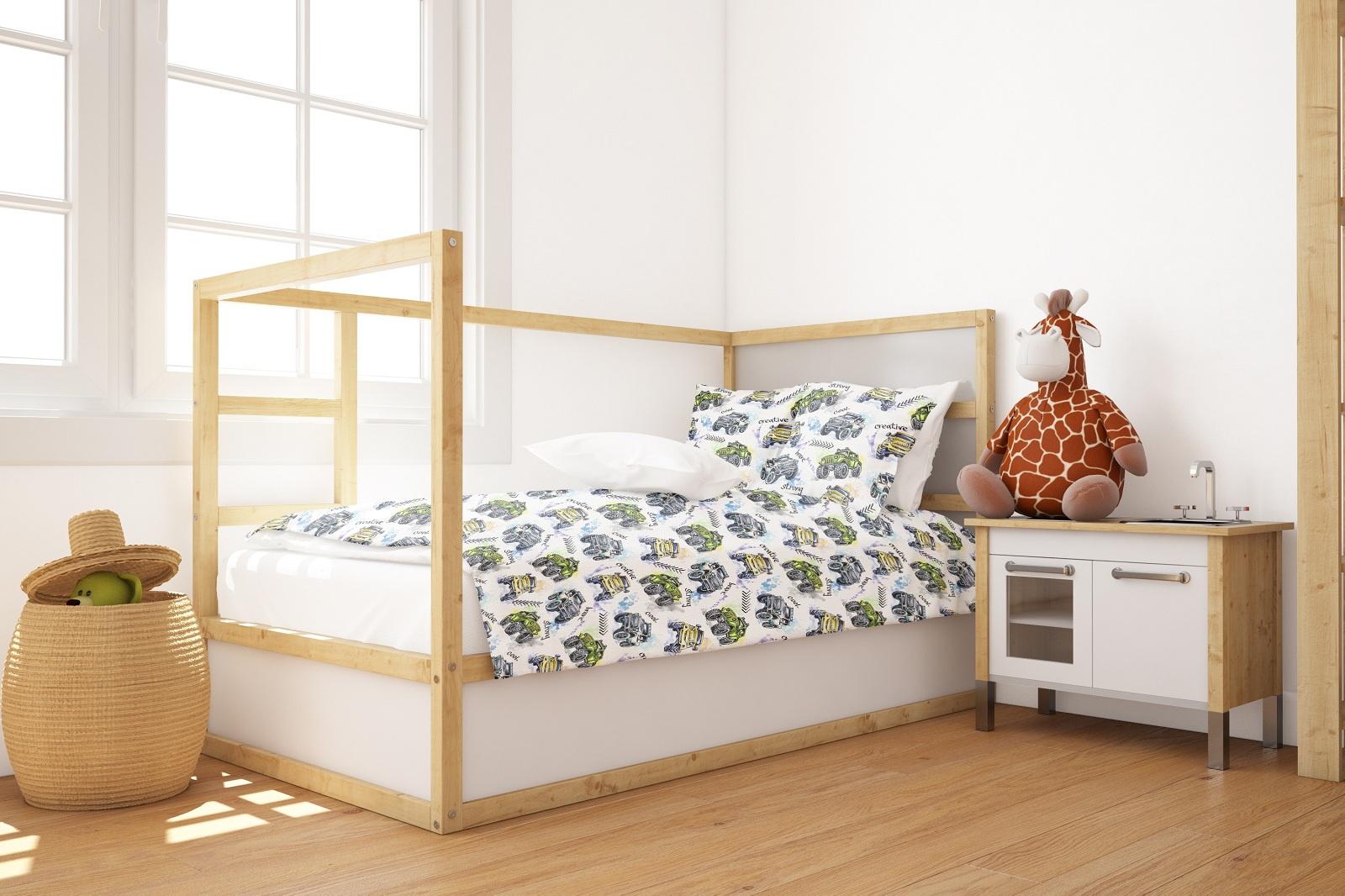 Комплект постельного белья Marengotextile Джипы, полуторный пододеяльник коллекция котик бязь 1 5 спальный 150х210 см
