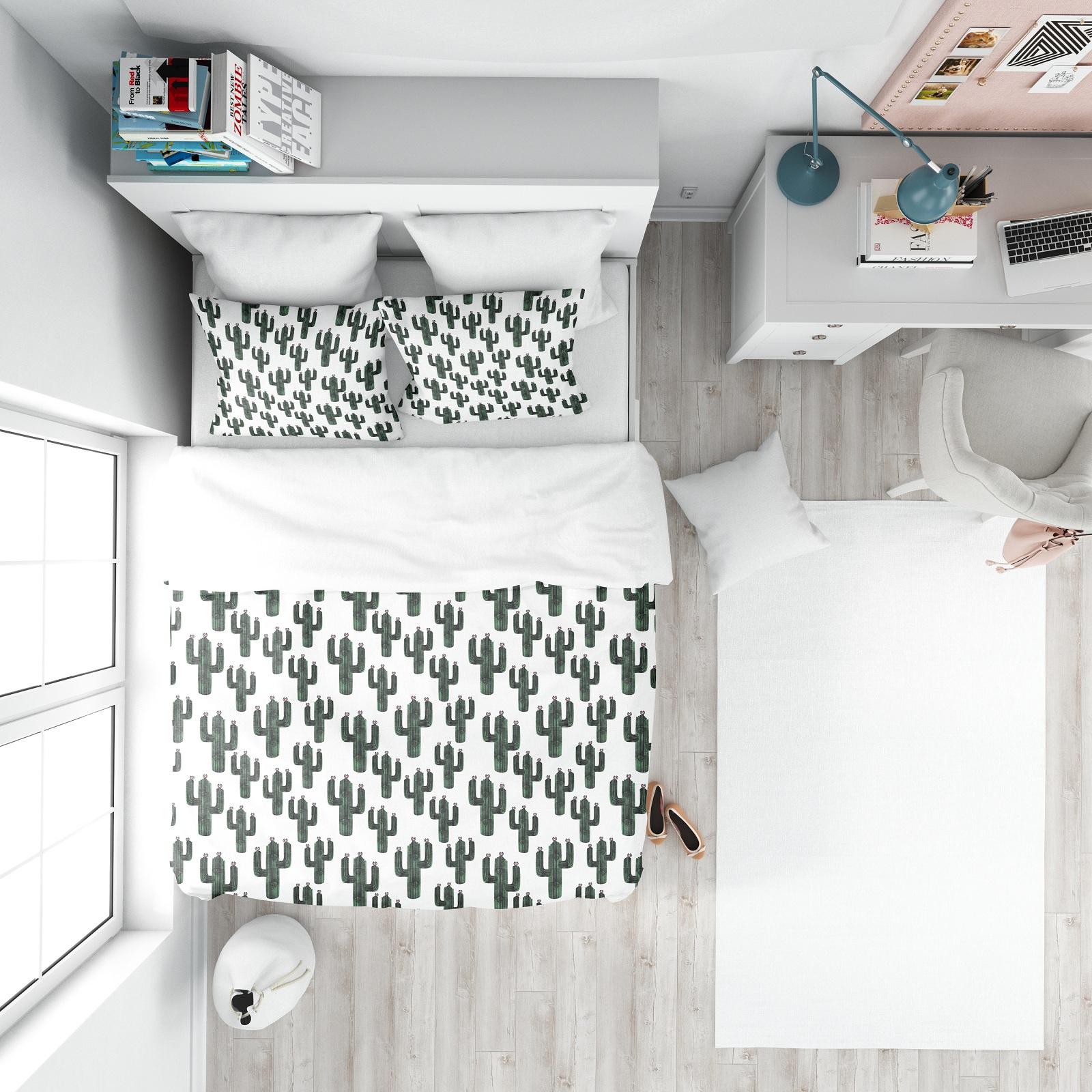 Комплект постельного белья Marengotextile Кактусы, полуторный пододеяльник коллекция котик бязь 1 5 спальный 150х210 см