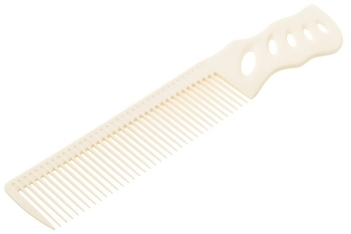 Расчёска Y.S.PARK с ручкой белая для диагональной стрижки YS-208 white y s park расчёска с ручкой большая для стрижки под машинку ys 282 2 цвета 1 шт белая