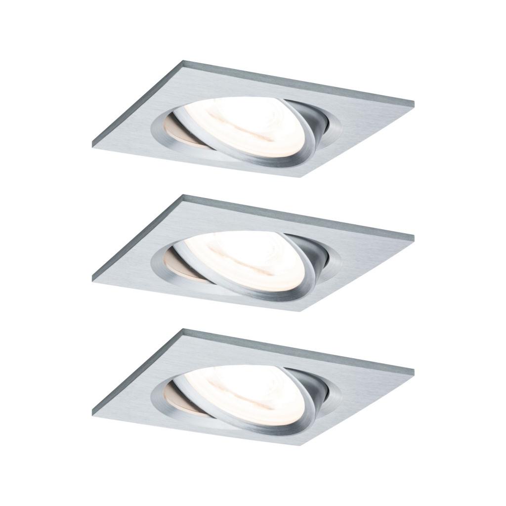 Светильник встраиваемый, комплект Nova Coin LED 3x6,5W Alu ge светильник donolux sa1541 sa1543 alu