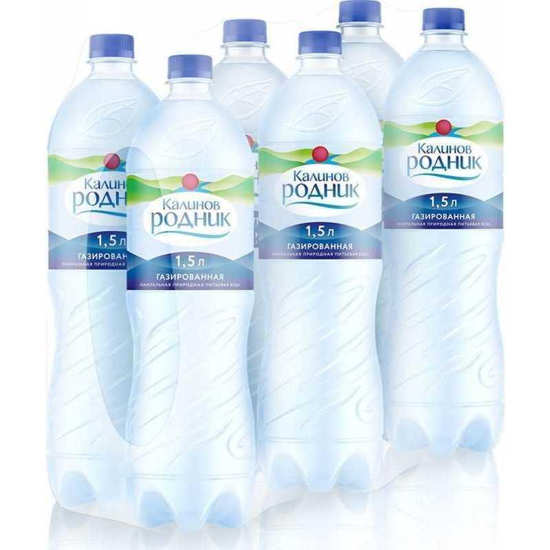 Вода Калинов Родник питьевая газированная, 1,5л (упаковка 6шт)