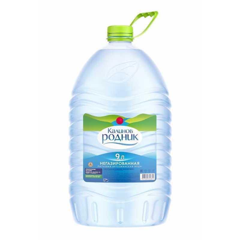 Вода Калинов Родник питьевая артезианская негазированная, 9л