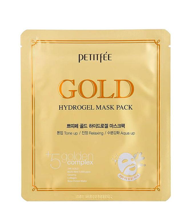 Гидрогелевая маска для лица Petitfee Gold Hydrogel Mask Pack 5*32 г