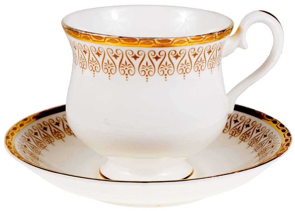 Чайная пара Классика. Английский фарфор, золочение. Royal Albert, Великобритания, 1970-е гг