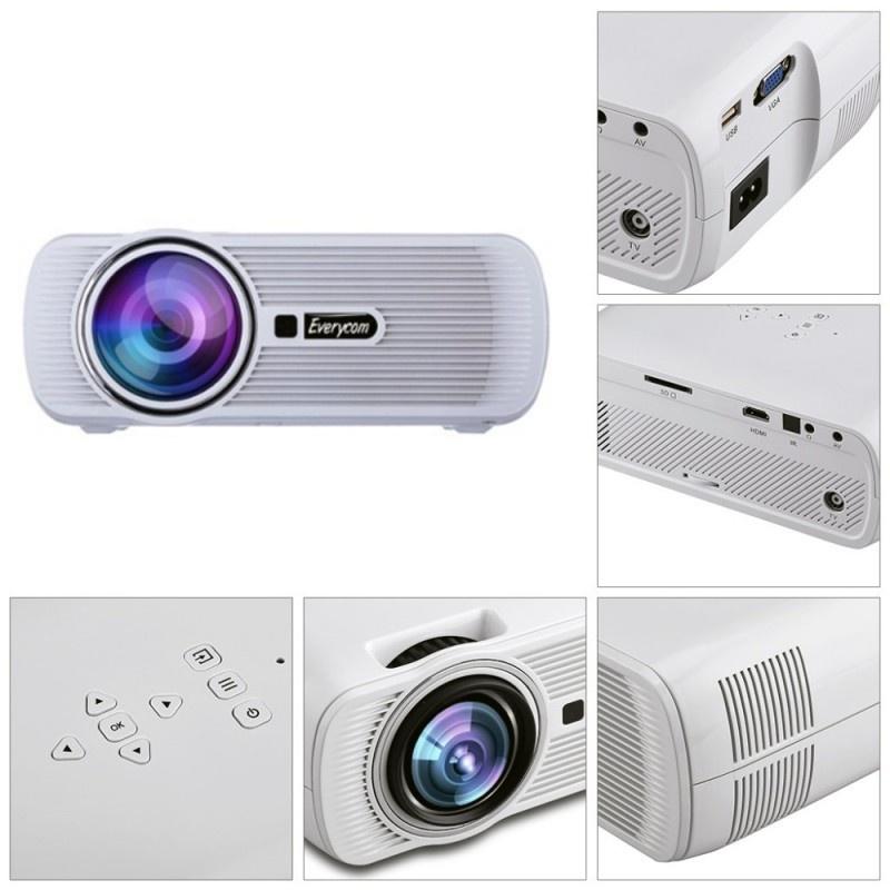 LEDТВ проектор Everycom X7A WiFi Miracast / Airplay белый Нет бренда