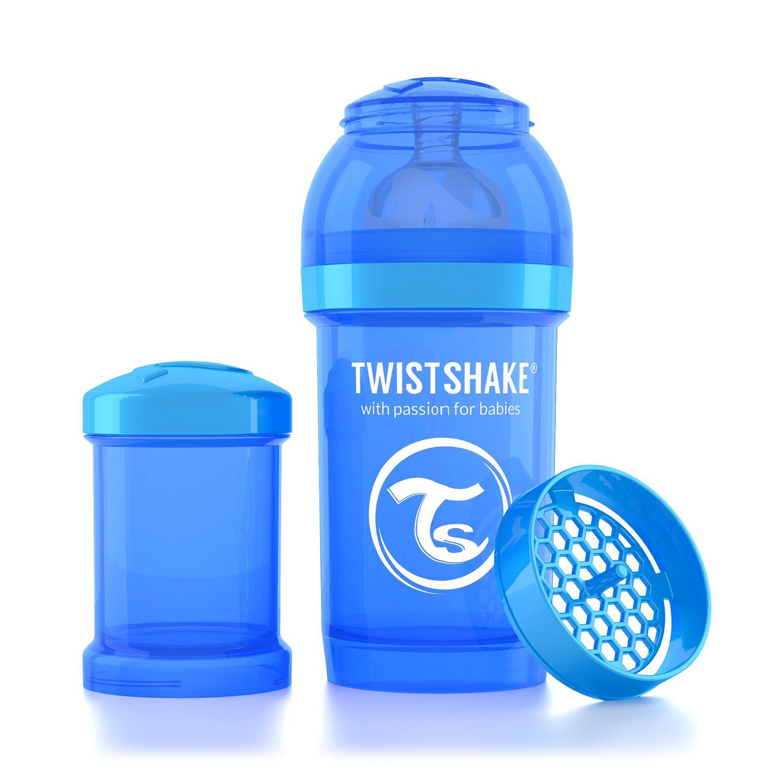 Twistshake Антиколиковая бутылочка для кормления 180 мл. Синяя Печенька (Cookiecrumb). все цены