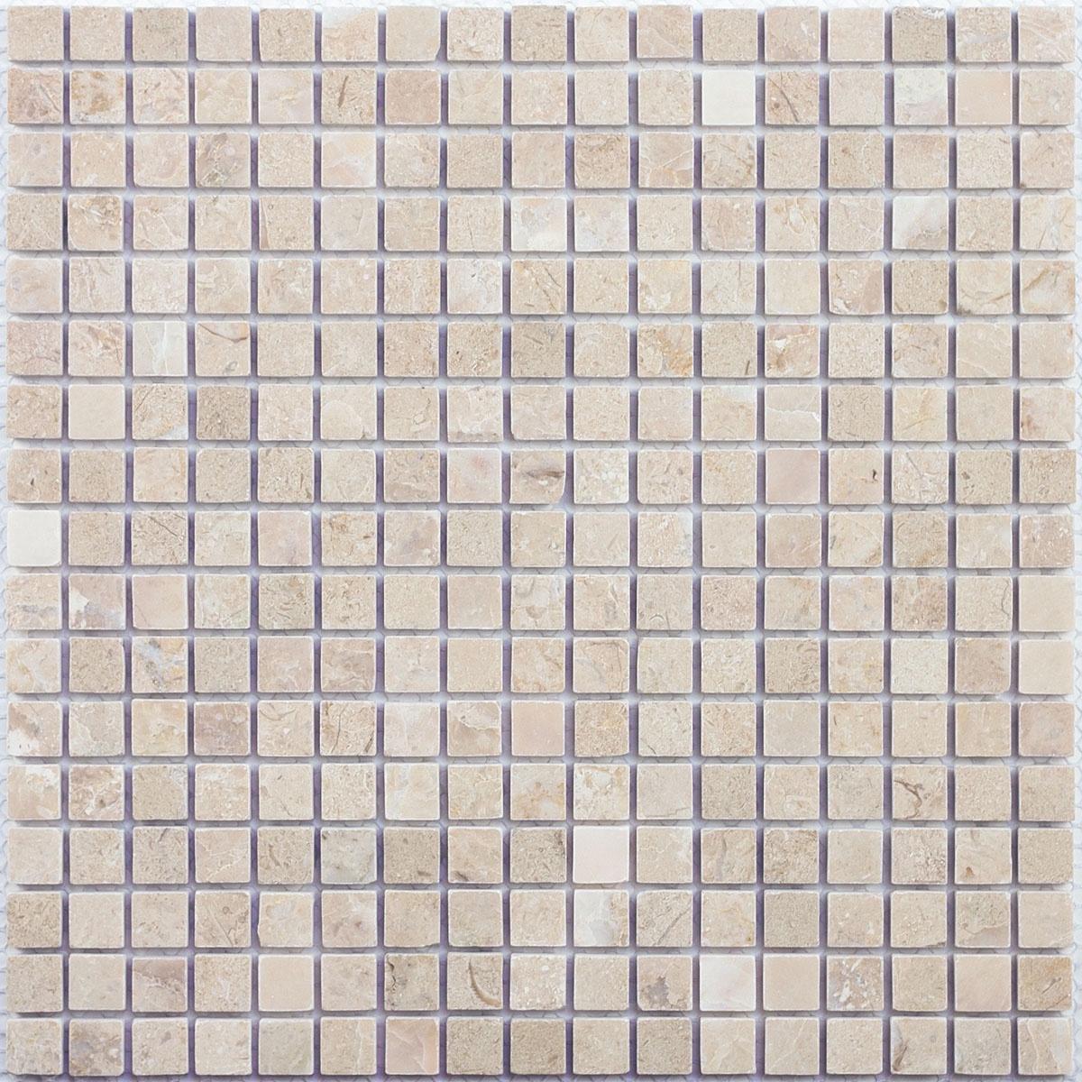 Мозаика из натурального камня Cappuccino beige POL 15x15x7