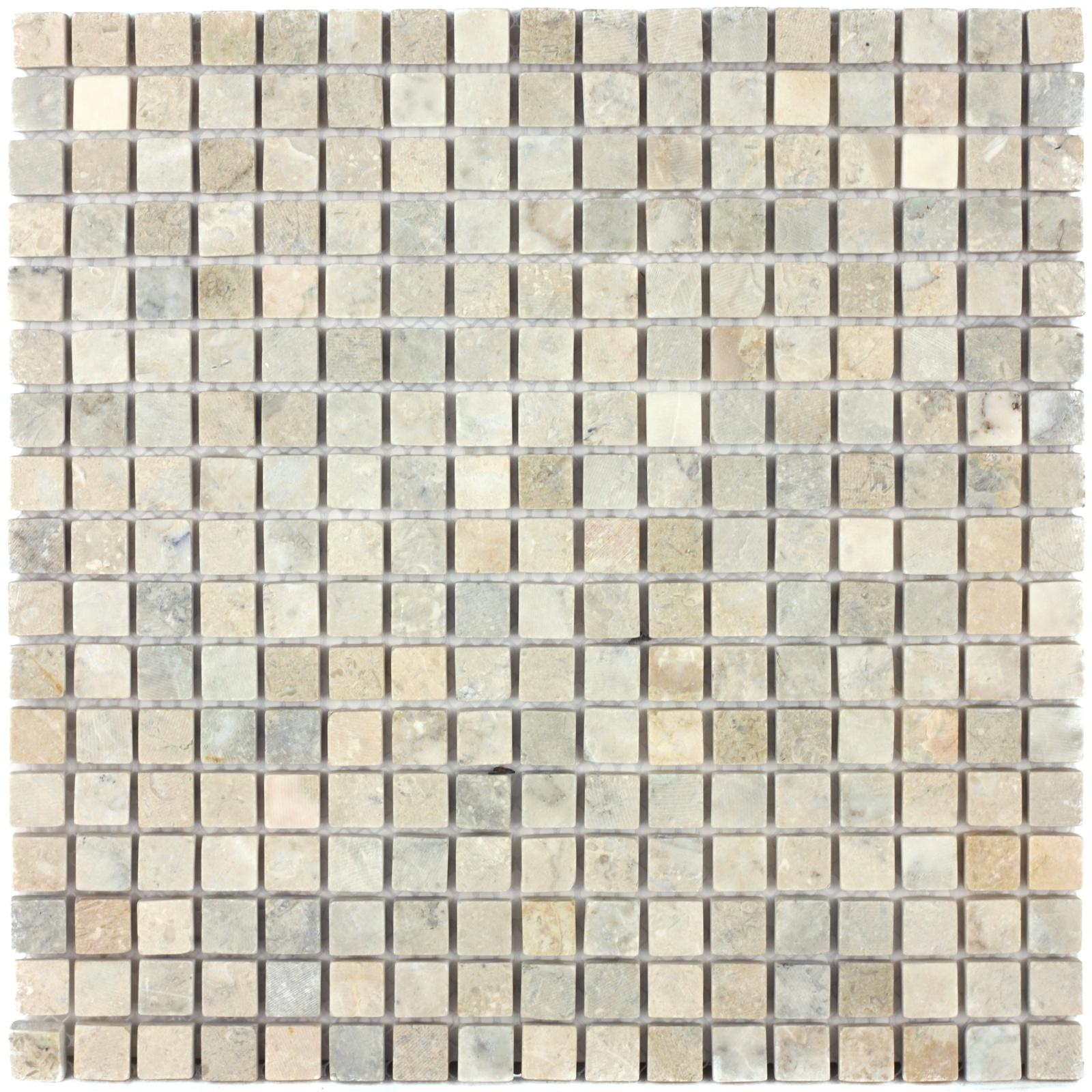 Мозаика из натурального камня Cappuccino grigio MAT 15x15x7