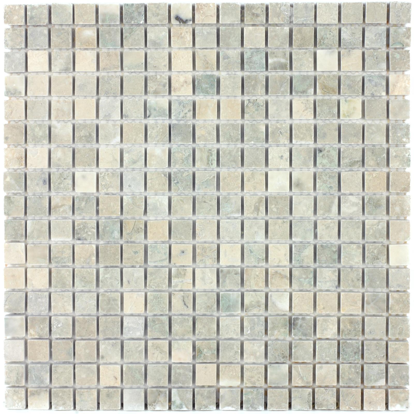 Мозаика из натурального камня Cappuccino grigio POL 15x15x7
