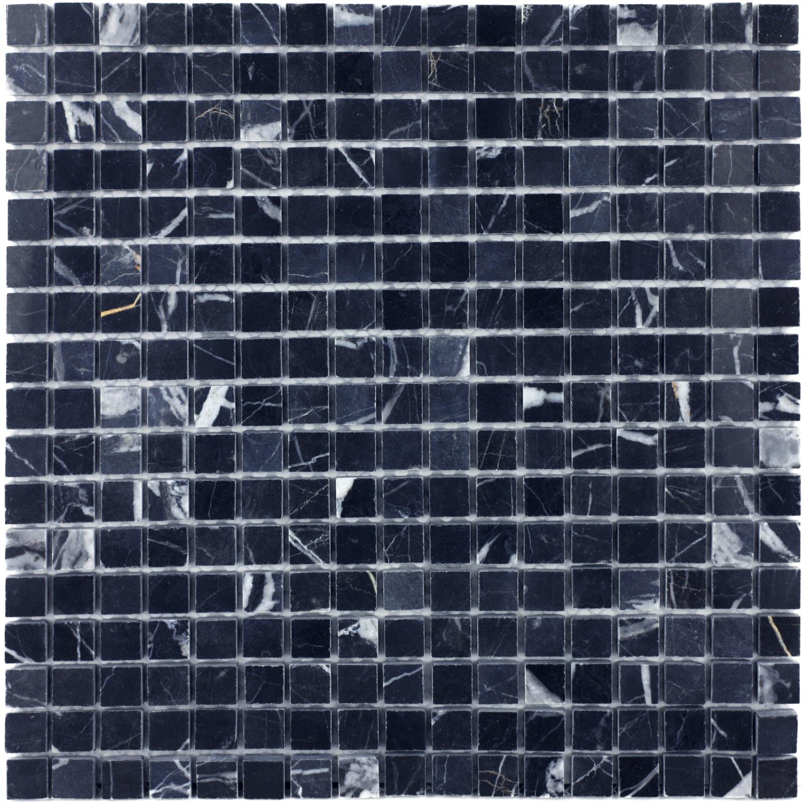 Мозаика из натурального камня Nero marquina POL 15x15x7 настенная плитка atlas concorde marvel stone nero marquina 50x110