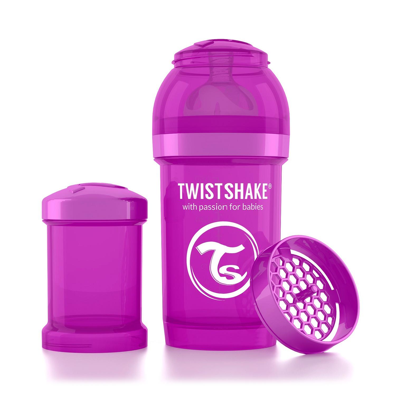 Twistshake Антиколиковая бутылочка для кормления 180 мл. Фиолетовый Братишка (Bestie). все цены