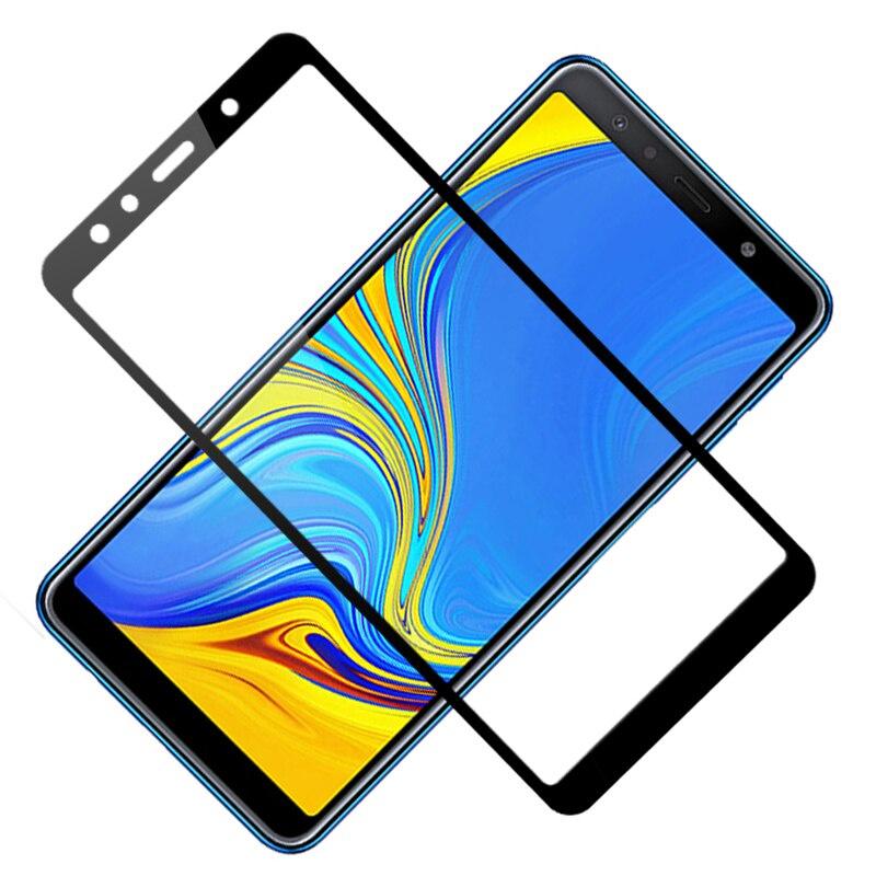 Защитное стекло Grand Full Glue для Samsung Galaxy A7 (2018), черный