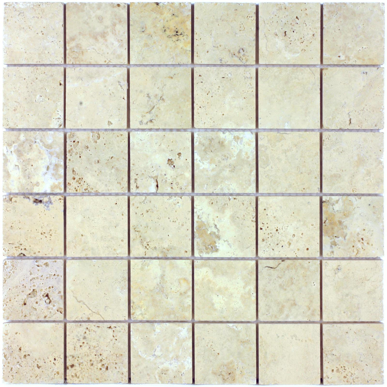 Мозаика из натурального камня Travertino Etrusco POL 48x48x7 цена