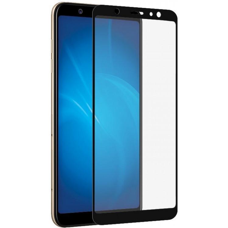Защитное стекло Grand Full Glue для Samsung Galaxy A6 (2018), черный аксессуар защитное стекло для samsung galaxy a6 onext full glue blue 41688