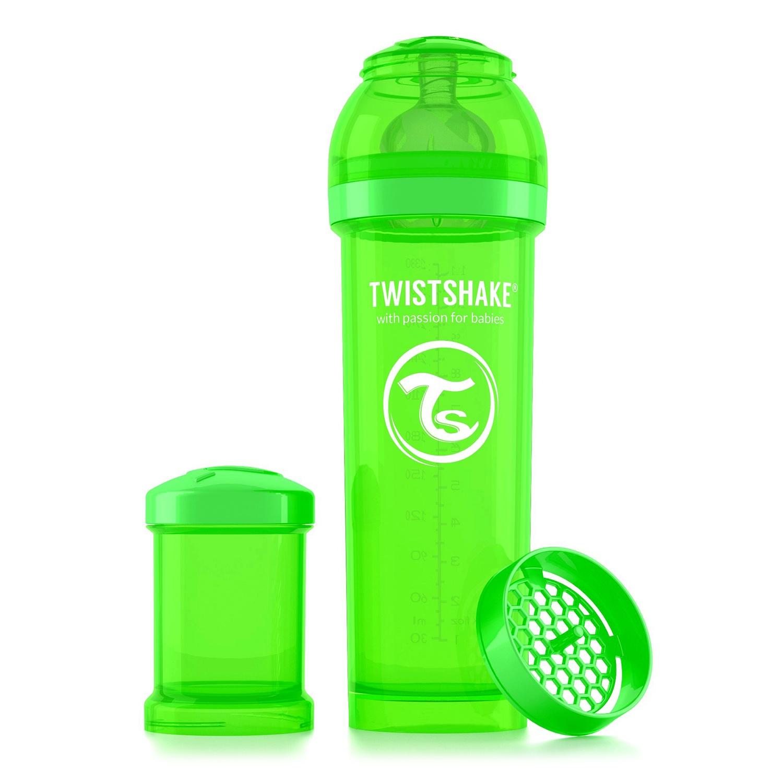 Twistshake Антиколиковая бутылочка для кормления 330 мл. Зелёный Любимчик (Sugarpuss). все цены