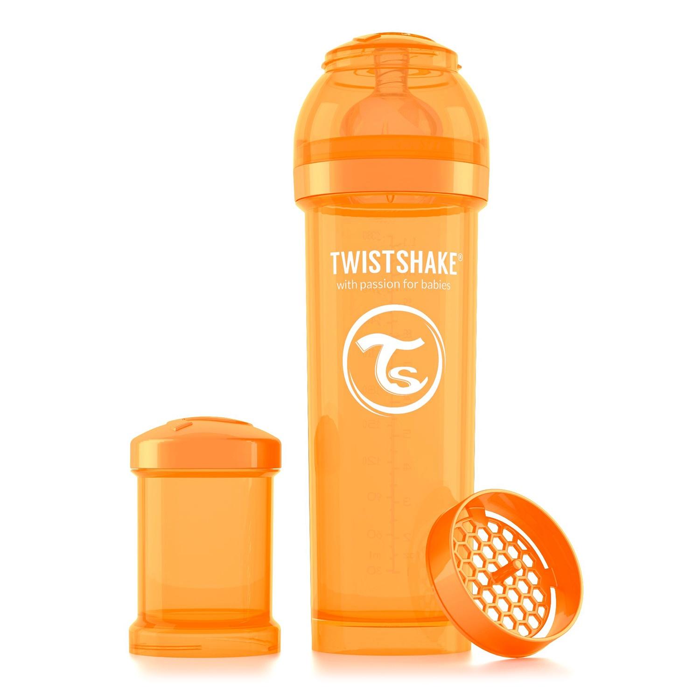 Twistshake Антиколиковая бутылочка для кормления 330 мл. Оранжевый Лучик (Sunbeam). все цены