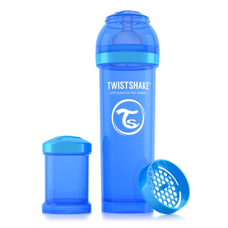 Twistshake Антиколиковая бутылочка для кормления 330 мл. Синяя Печенька (Cookiecrumb). все цены