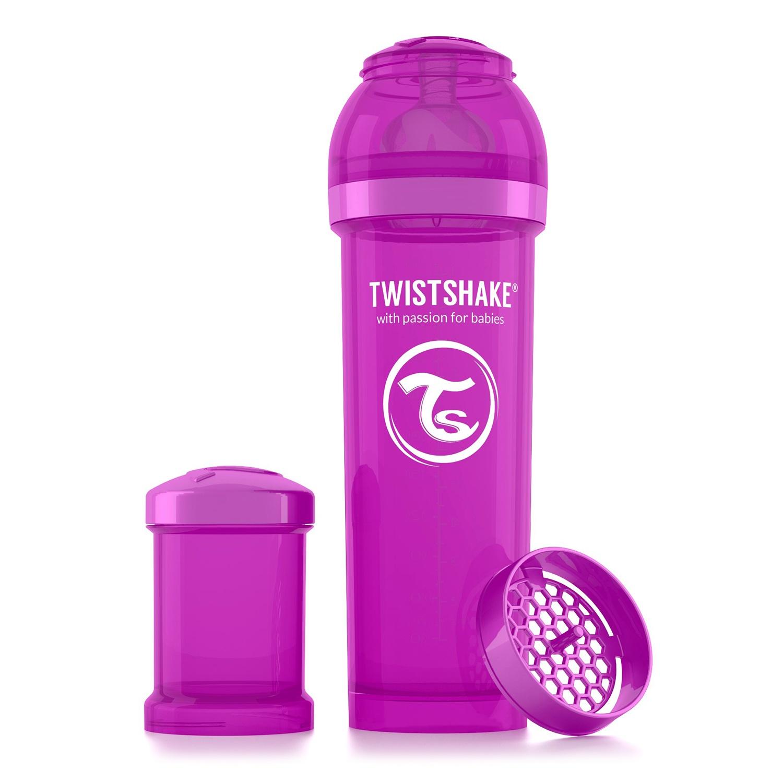 Twistshake Антиколиковая бутылочка для кормления 330 мл. Фиолетовый Братишка (Bestie). все цены