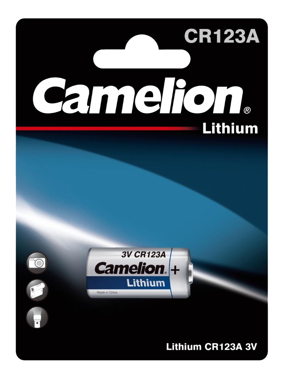 Camelion CR123A BL-1 (CR123A-BP1, батарейка фото,3В) батарейка cr123a robiton profi r cr123a bl1 13263