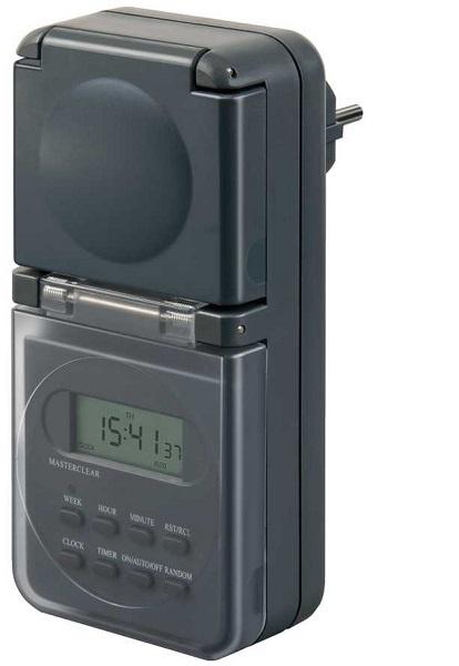 1506706 Brennenstuhl таймер электронный 24 часа, шаг 1 минута , 10 программ, черный, IP44
