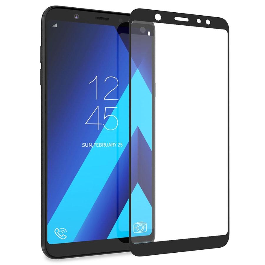 Защитное стекло Grand Full Glue для Samsung Galaxy A6 Plus (2018), черный аксессуар защитное стекло для samsung galaxy a6 onext full glue blue 41688
