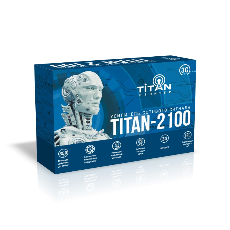Усилитель сигнала сотовой связи (репитер) Titan-2100