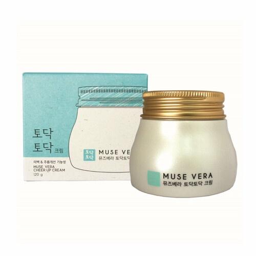 Крем для ухода за кожей антивозрастной с экстрактом чайного дерева DEOPROCE Muse Vera Cheer up cream 120г